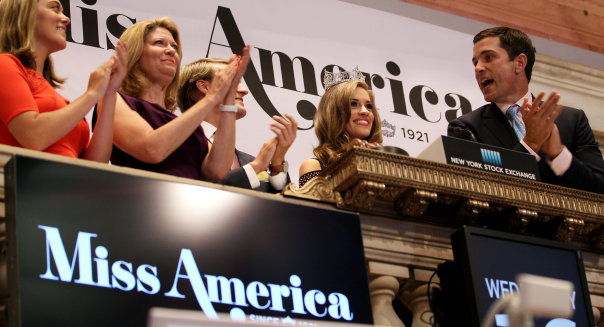 Miss America 2016, Betty Cantrell Rings The New York Stock Exchange Opening Bell
